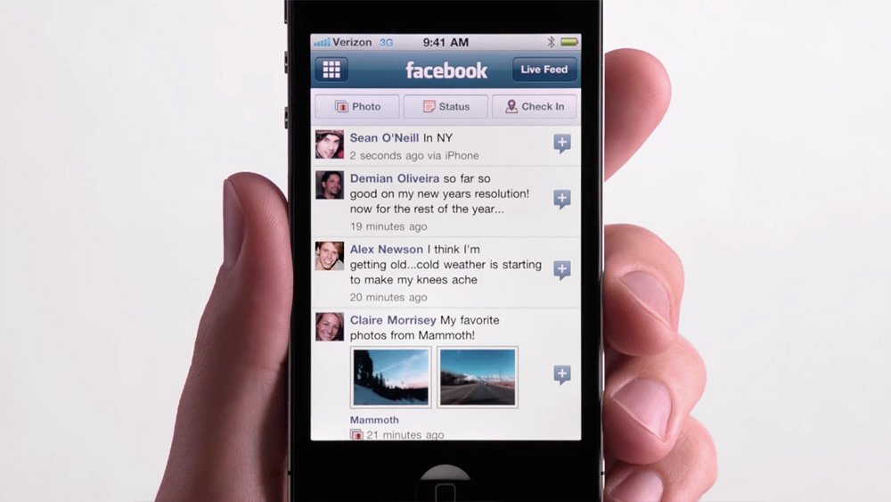 Verizon-iPhone-4-easy-Facebook-status-update